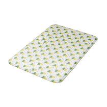 watercolor pineapples pattern bathroom mat