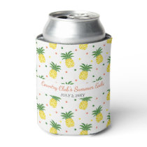 watercolor pineapples pattern can cooler