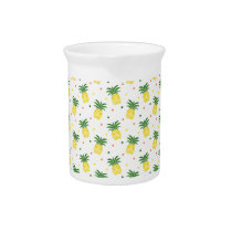 watercolor pineapples pattern drink pitcher
