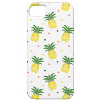 watercolor pineapples pattern iPhone SE/5/5s case