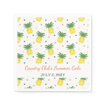 watercolor pineapples pattern paper napkin