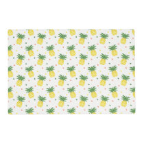 watercolor pineapples pattern placemat