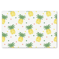 watercolor pineapples pattern tissue paper