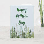 Watercolor Pines Father's Day Customizable Card