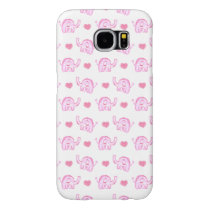 watercolor pink elephants hearts samsung galaxy s6 case