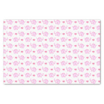 watercolor pink elephants hearts tissue paper
