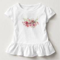 Watercolor Pink Floral T-Shirt (FLOWER GIRL)
