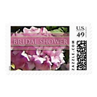 Watercolor Pink Hydrangea-Bridal Shower-Med Stamps