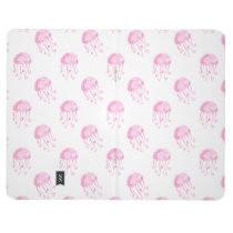 watercolor pink jellyfish beach design journal