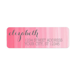 Watercolor Pink Ombre Feminine Office Suite Label