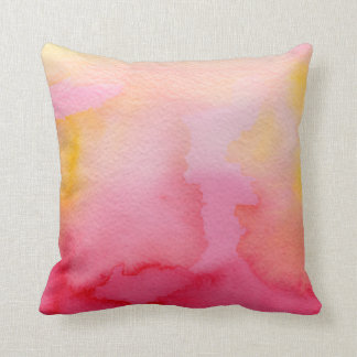 Watercolor Pink & Orange Blends Pillow