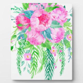 Watercolor Pink Peony bouquet Plaque