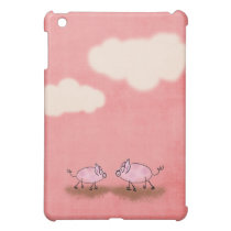 Watercolor Pink Piggies iPad Mini Cover