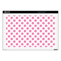 "watercolor pink polka dots dotty design 17"" laptop decal"