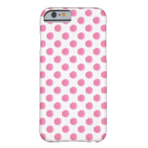 watercolor pink polka dots dotty design barely there iPhone 6 case