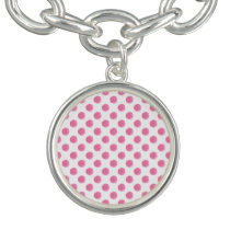 watercolor pink polka dots dotty design bracelets