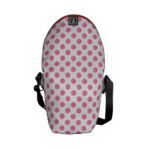 watercolor pink polka dots dotty design courier bag