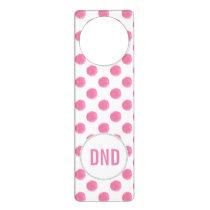 watercolor pink polka dots dotty design door hanger