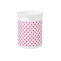 watercolor pink polka dots dotty design drink pitcher