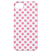 watercolor pink polka dots dotty design iPhone SE/5/5s case