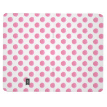 watercolor pink polka dots dotty design journal