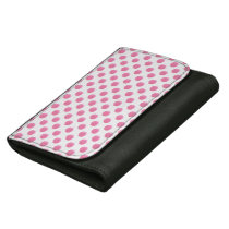 watercolor pink polka dots dotty design leather wallets