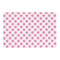 watercolor pink polka dots dotty design placemat