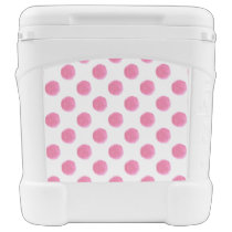 watercolor pink polka dots dotty design rolling cooler