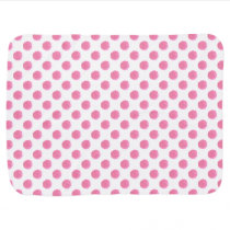 watercolor pink polka dots dotty design swaddle blanket