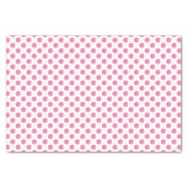 watercolor pink polka dots dotty design tissue paper