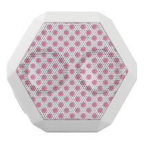 watercolor pink polka dots dotty design white bluetooth speaker