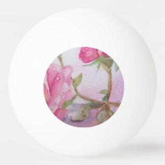 Watercolor pink Rose Ping Pong Ball