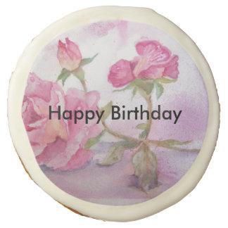 Watercolor pink Rose Sugar Cookie