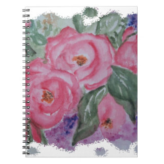WATERCOLOR PINK ROSES NOTEBOOKS