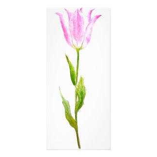 Watercolor Pink Tulip Mini Book Mark Rock Card Rack Cards