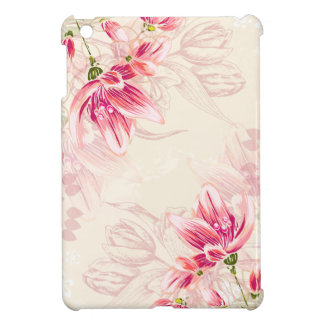 Watercolor Pink Tulips Case For The iPad Mini