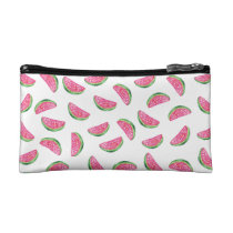 Watercolor pink watermelon pattern cosmetics case