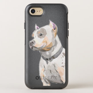 Watercolor Pit Bull OtterBox Symmetry iPhone 7 Case