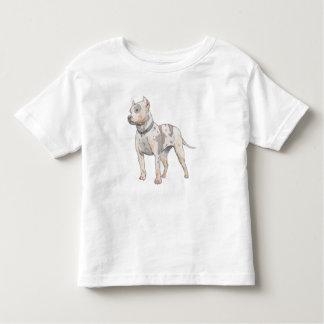 Watercolor Pit Bull Toddler Toddler T-shirt