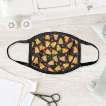 Watercolor Pizza Kids Fast Food Pattern Face Mask