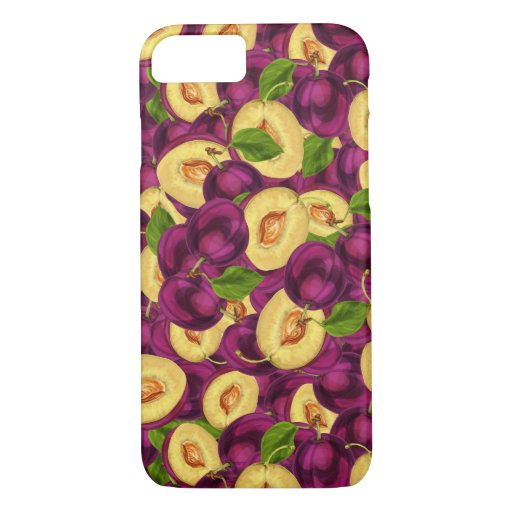 Watercolor Plums iPhone 8/7 Case