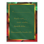 Watercolor Poinsettias Holiday Wedding RSVP Card Invites