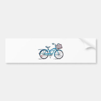 Watercolor Polka Dot Bicycle Car Bumper Sticker