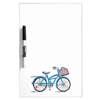 Watercolor Polka Dot Bicycle Dry Erase Board