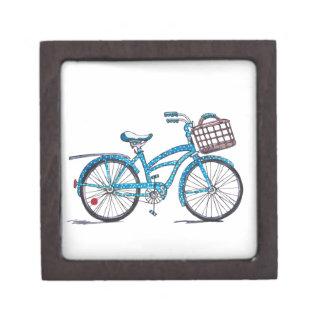 Watercolor Polka Dot Bicycle Keepsake Box