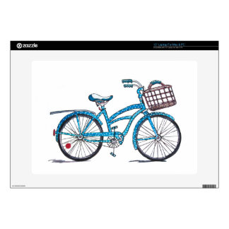 Watercolor Polka Dot Bicycle Laptop Decal