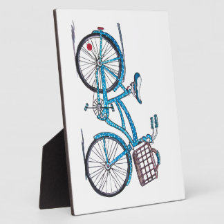 Watercolor Polka Dot Bicycle Plaque