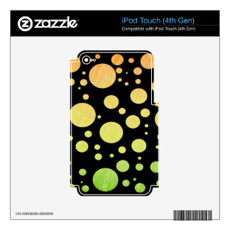 Watercolor Polka Dots Decals For iPod Touch 4G