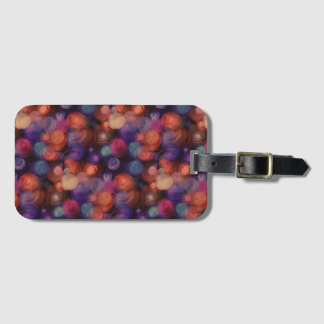 Watercolor Polka Dots Pattern + your ideas Luggage Tag