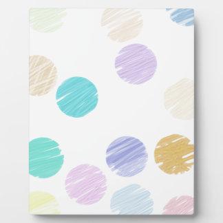 Watercolor Polka Dots Plaque